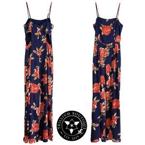 Leith Floral Cutout Sleeveless Jumpsuit Medium